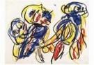 Karel Appel (1921-2006)  -  Les amoureux - Postkaart -  A9876-1