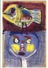 Karel Appel (1921-2006)  -  Little Chickadee - Postkaart -  A9880-1