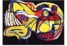 Karel Appel (1921-2006)  -  Vliegende hond - Postkaart -  A9882-1