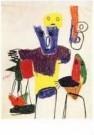 Karel Appel (1921-2006)  -  Vragende kinderen - Postkaart -  A9883-1