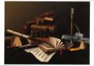 Harnett, William Michael 1848- -  Music and Literature - Postkaart -  A9908-1