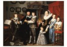 Hendrick Cornelisz van Vliet  -  Portret Fam. Duss - Postkaart -  A9917-1