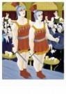 Ferdinand Erfmann (1901-1968)  -  Cafe met twee gladi - Postkaart -  A9934-1