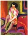Jan Wiegers (1893-1959)  -  Zittende vrouw - Postkaart -  A9958-1