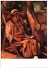 Matthieu Wiegman (1886-1971)  -  Lezende vrouw - Postkaart -  A9959-1
