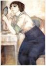 Leo Gestel (1881-1941)  -  Dame in Boudoir - Postkaart -  A9961-1