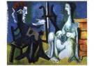 Pablo Picasso (1881-1973)  -  Schilder en Model - Postkaart -  A9963-1