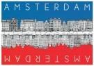 Tim Killiam (1947-2014)  -  Opposite sides of the Keizersgracht - Postkaart -  AU0171-1