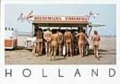 Henk van der Leeden (1941)  -  Fish Stand on nudist beach, Holland - Postkaart -  AU0598-1
