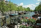 Tim Killiam (1947-2014)  -  Utrechtsestraat, bridge over the Keizersgracht - Postkaart -  AU0747-1