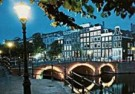 Igno Cuypers  -  Evening on the canals, Amsterdam / Hijgend Hert - Postkaart -  AU0776-1
