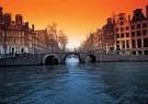 Tim Killiam (1947-2014)  -  Leidsegracht, seen from the Herengracht, Amsterdam - Postkaart -  AU0783-1