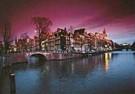 Tim Killiam (1947-2014)  -  Keizersgracht, Moonlight, Amsterdam - Postkaart -  AU0785-1