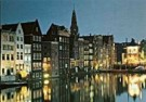 Igno Cuypers  -  Damrak at night, Amsterdam - Postkaart -  AU0797-1