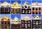 Tim Killiam (1947-2014)  -  Dutch Gable-Types: 8 Elevated Cornice-gables - Postkaart -  AU0815-1