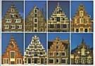 Tim Killiam (1947-2014)  -  Dutch Gable-Types: 8 Step-gables - Postkaart -  AU0818-1