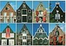 Tim Killiam (1947-2014)  -  Eight spout-gables (tuitgevels) Amsterdam - Postkaart -  AU0819-1