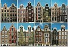 Tim Killiam (1947-2014)  -  8 Couple-Gables (Echtparen), Amsterdam - Postkaart -  AU0826-1
