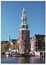 Igno Cuypers  -  Montelbaantoren on the Oude Schans, Amsterdam - Postkaart -  AU1015-1