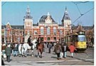 Igno Cuypers  -  Tram #9 by Centraal Station, Amsterdam - Postkaart -  AU1020-1