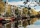 Igno Cuypers  -  Houseboats on the Prinsengracht, Amsterdam - Postkaart -  AU1031-1