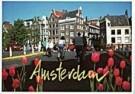Igno Cuypers  -  Torenbrug Tulips. Double exposure - Postkaart -  AU1036-1