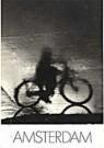 Paul Huf (1924-2002)  -  Fiets in regen - Postkaart -  B0057-1