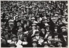 Anoniem  -  Community singing bij de voetbal wedstrijd Holland - Postkaart -  B1175-1
