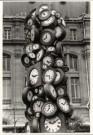 Martin Langer (1956)  -  St. Lazare, Paris - Postkaart -  B1480-1