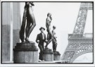 Marc atze Jacquemin  -  Mime player near the Eiffeltower - Postkaart -  B2826-1