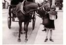 Spaarnestad Fotoarchief,  -  Paard en meisje - Postkaart -  B3237-1