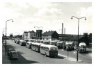 P.D. van der Poel (1919-2004)  -  Stationsplein, Alkmaar - Postkaart -  B3721-1