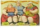 Circusarchief Jaap Best  -  Die dicksten u. schwersten Madchen von Holland - Postkaart -  C10703-1