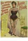Circusarchief Jaap Best  -  Die wirklich tatowirte Dame der Welt, Annie Frank - Postkaart -  C10704-1