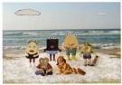 Ram Katzir (1969)  -  De Broodfamilie op vakantie-The Bread family on - Postkaart -  C10900-1