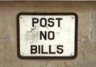 Diederik Swart  -  Post no bills - Postkaart -  C11031-1