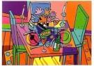 Jacqueline Schafer  -  Stilleven in kleur, De tafel - Postkaart -  C11273-1