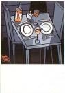 Jacqueline Schafer  -  Tafel voor twee met kaarsje - Postkaart -  C11277-1