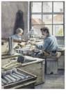 Cornelis Jetses (1873-1955)  -  Schoolplaat in ruime kring - Postkaart -  C11597-1