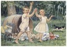 Cornelis Jetses (1873-1955)  -  Uit: Ot en Sien, Voor scholen in Indie - Postkaart -  C11608-1
