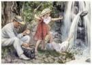 Cornelis Jetses (1873-1955)  -  Uit: Ot en Sien Voor scholen in Indie - Postkaart -  C11610-1