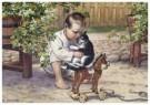 Cornelis Jetses (1873-1955)  -  Uit: Ot en Sien, Voor scholen in Indie - Postkaart -  C11615-1