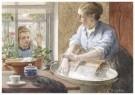 Cornelis Jetses (1873-1955)  -  Uit: Nog bij moeder - Postkaart -  C11631-1