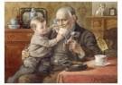 Cornelis Jetses (1873-1955)  -  Uit: Nog bij moeder - Postkaart -  C11636-1