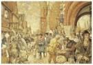 Cornelis Jetses (1873-1955)  -  Schoolplaat, een stad in de middeleeuwen - Postkaart -  C11637-1