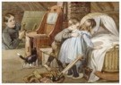 Cornelis Jetses (1873-1955)  -  Uit: Nog bij moeder - Postkaart -  C11640-1