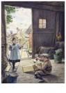 Cornelis Jetses (1873-1955)  -  Uit: Buurtkinderen - Postkaart -  C11675-1