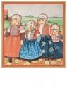 Rie Cramer (1887-1977)  -  vier kinderen in Oud-Hollands klederdracht - Postkaart -  C11764-1