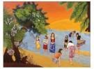 Ton Leenarts (1949)  -  Spring time at the Jamuna river, 2003 - Postkaart -  C12291-1