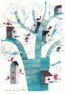 Simona Dimitri  -  bird houses, 2012 - Postkaart -  C12484-1